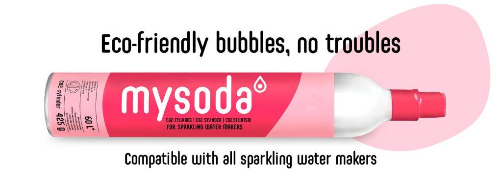 Mysoda co2 cylinder banner